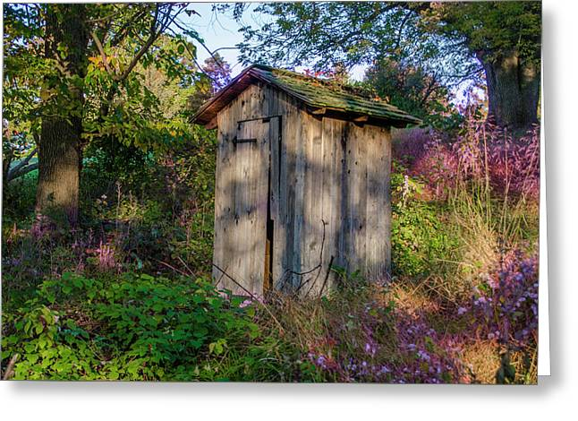Outhouse - Valley Forge Pennsylvania Greeting Card