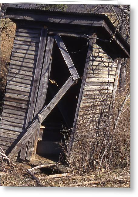 Outhouse1 Greeting Card by Curtis J Neeley Jr