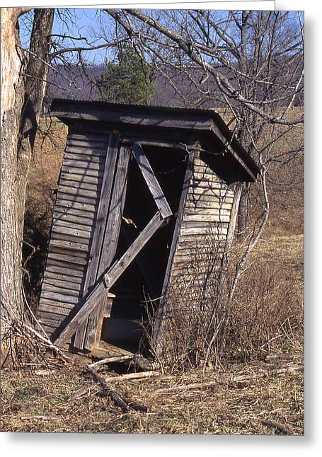 Outhouse3 Greeting Card by Curtis J Neeley Jr