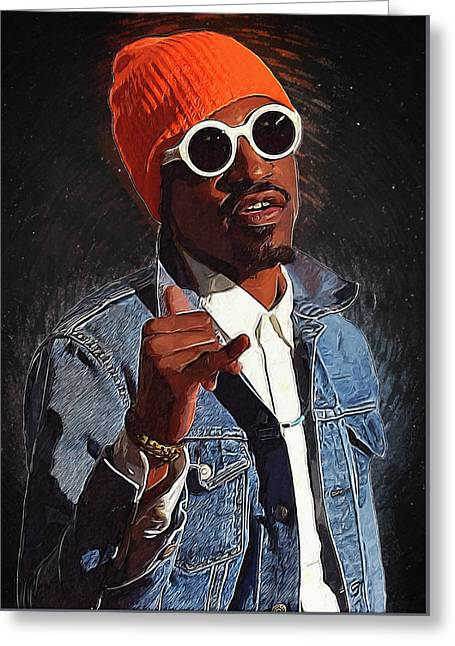 Outkast Andre 3000 Greeting Card