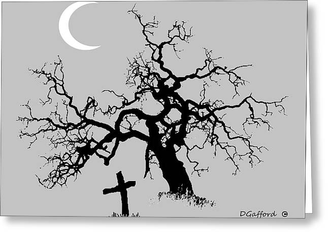 Outlaw Grave Greeting Card by Dave Gafford