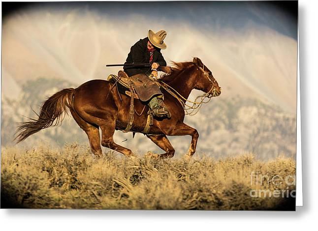 Outlaw Kelly Western Art By Kaylyn Franks Greeting Card