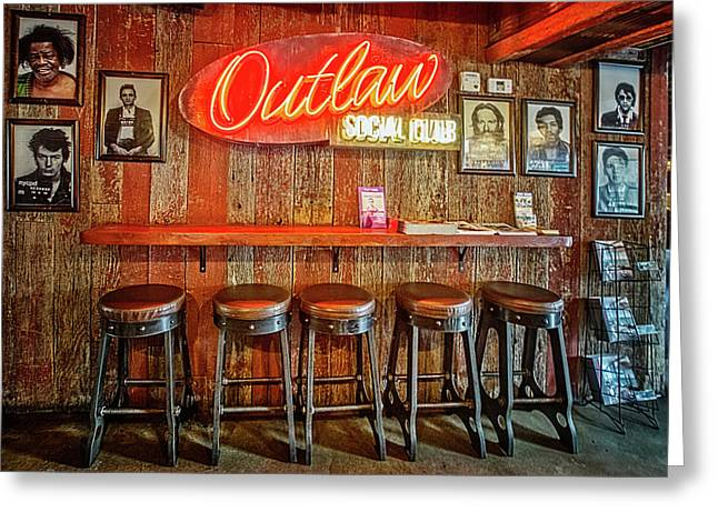 Outlaw Social Club Greeting Card
