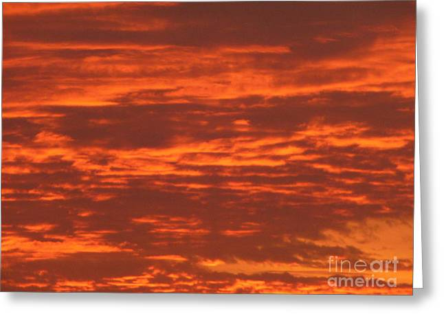 Outrageous Orange Sunrise Greeting Card