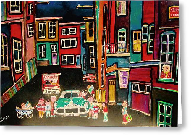 Outremont Back Lane Greeting Card