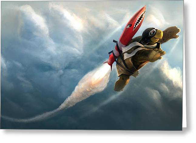 Outrunning The Clouds Greeting Card