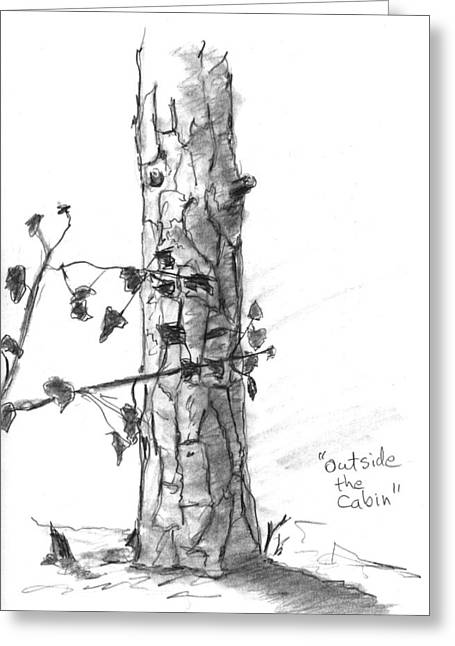 Outside The Cabin Greeting Card by Kevin Callahan