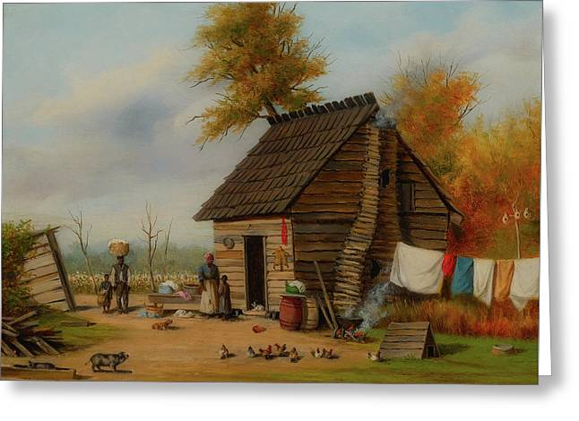 Outside The Cabin Greeting Card by William Walker