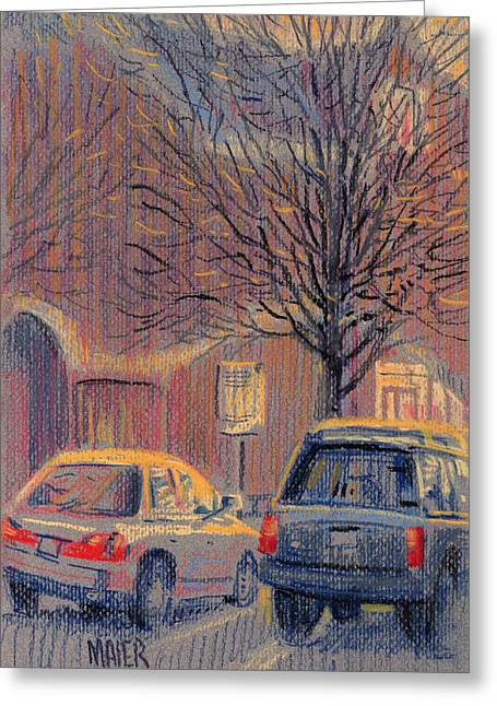 Outside Waiting Greeting Card