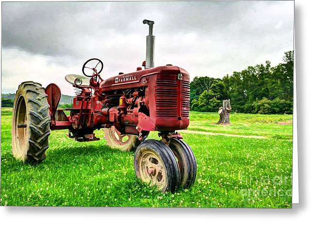 Outstanding In It's Field Greeting Card by Mel Steinhauer