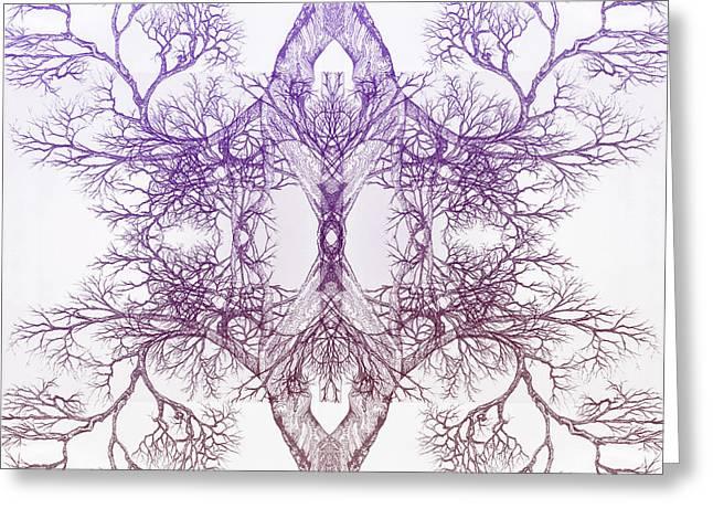Outward Tree 9 Hybrid 4 Greeting Card