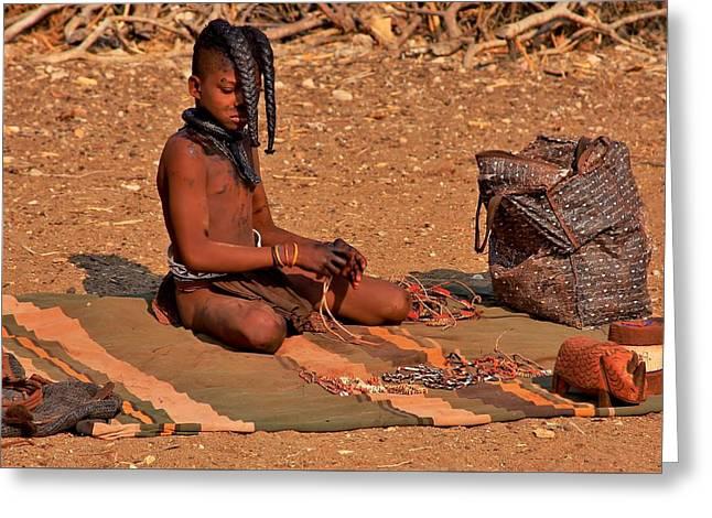 Ovahimba Series-5 Greeting Card by Stacie Gary
