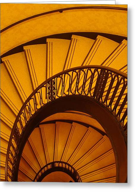 Oval Stairs To Nowhere Greeting Card