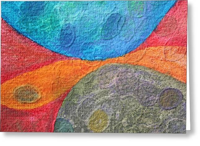 Ovals 5 Greeting Card by  Judy Bernier
