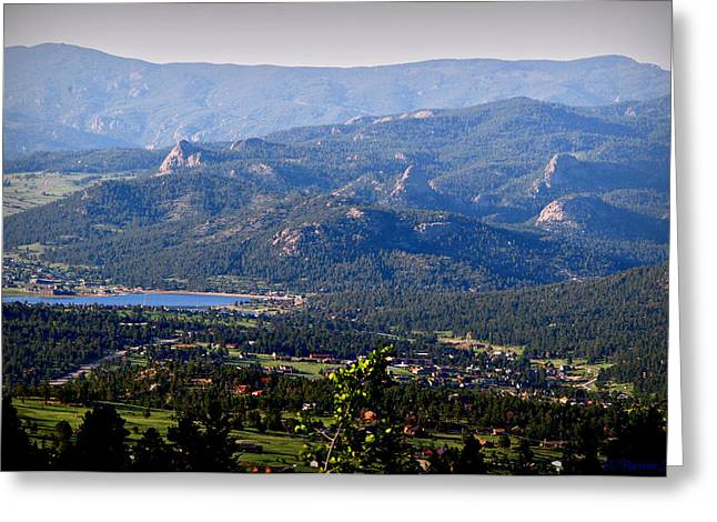 Over Estes Greeting Card by Aaron Burrows