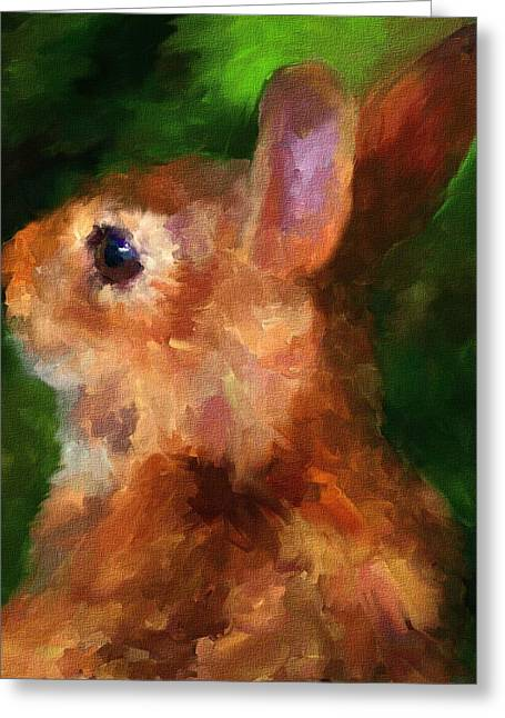 Over My Shoulder Greeting Card by Jai Johnson