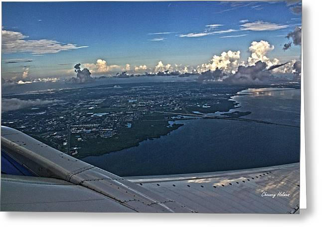 Over Tampa Greeting Card by Chauncy Holmes