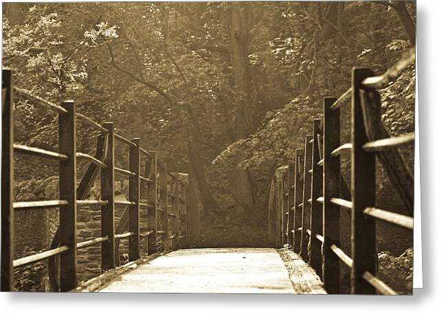 Over The Bridge Greeting Card by Brian Roscorla