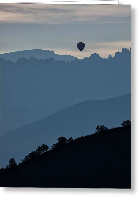 Over The Cimarrons Greeting Card