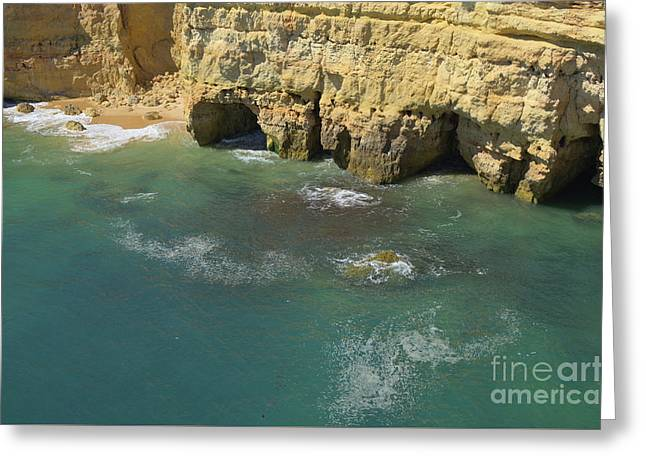 Over The Cliffs In Albandeira Greeting Card by Angelo DeVal