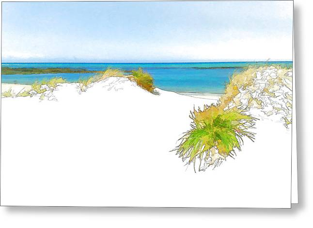 Over The Dunes 2 Greeting Card by Jan Hattingh