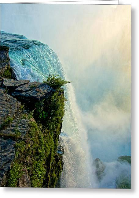 Over The Falls II Greeting Card