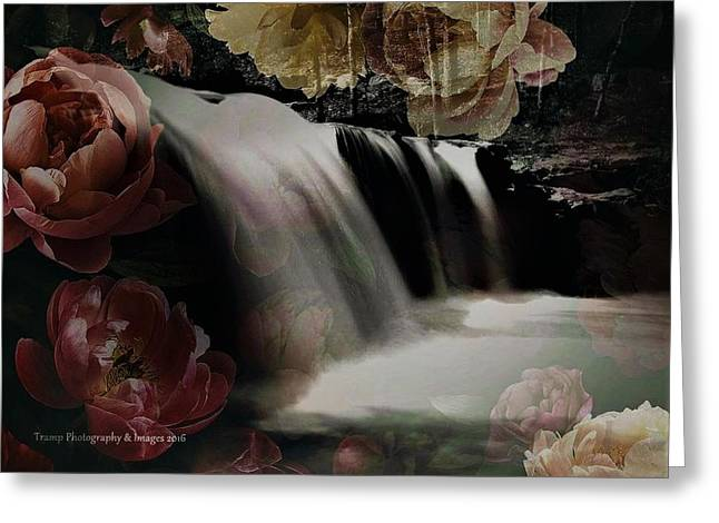 Over The Falls Greeting Card