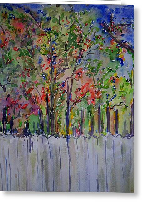 Over The Fence Greeting Card by Liliana Andrei