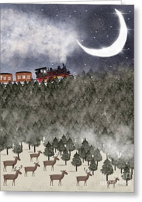 Over The Hill And Far Away Greeting Card