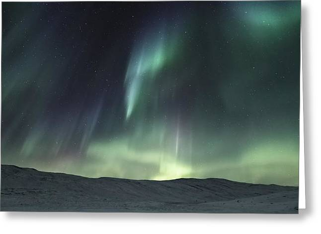 Over The Hills Greeting Card by Tor-Ivar Naess