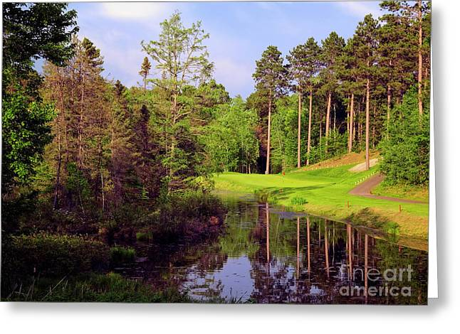 Over The Pond Greeting Card