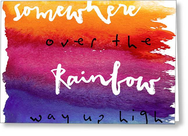 Over The Rainbow Greeting Card by Mindy Sommers