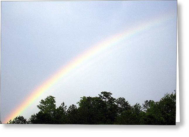 Over The Rainbow Greeting Card by Tina Antoniades