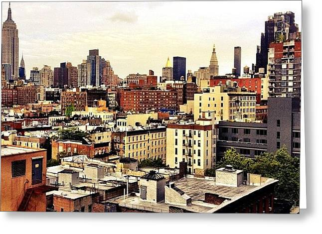 Over The Rooftops Of New York City Greeting Card