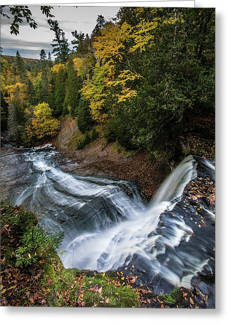 Over The Top - Laughing Whitefish Falls Greeting Card
