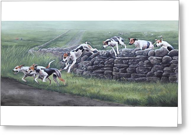 Over The Wall Greeting Card by Barbara Hymer