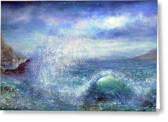 Over The Waves Greeting Card by Ann Marie Bone