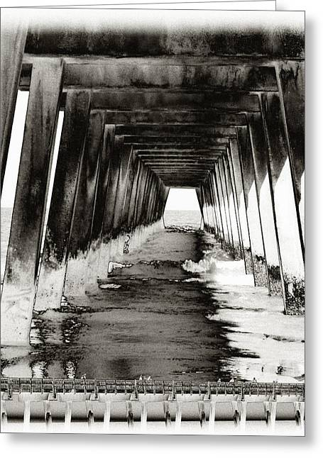 Over Under-tybee Island Greeting Card by Ann Tracy