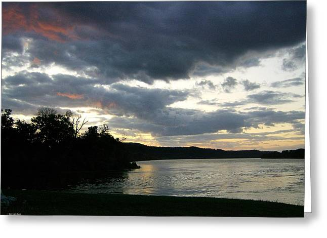Greeting Card featuring the photograph Overcast Morning Along The River by Skyler Tipton