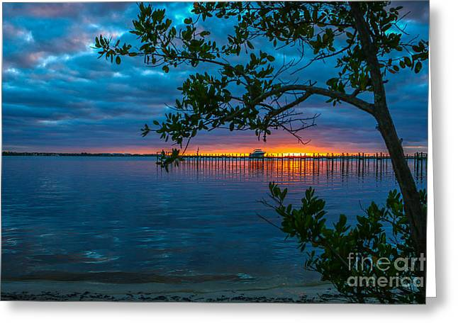 Overcast Sunrise Greeting Card by Tom Claud