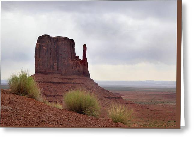 Overcast Valley Greeting Card by Gordon Beck