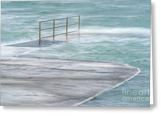 Overflow Wave Greeting Card by Richard Thomas