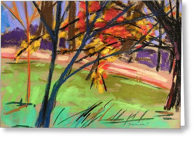 Vibrant Pastels Greeting Cards - Overhangs the Path Greeting Card by John  Williams