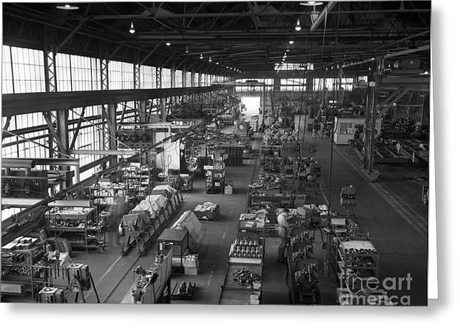 Overhead Of Compressor Assembly Line Greeting Card