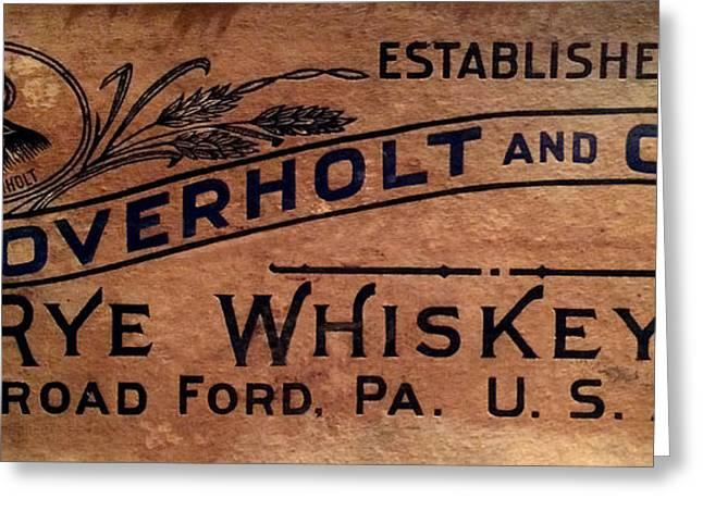 Overholt Rye Whiskey Sign Greeting Card by Jon Neidert