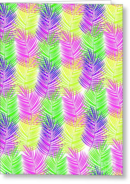 Overlaid Leaves Greeting Card by Louisa Knight