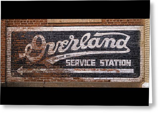 Overland Service Station Greeting Card