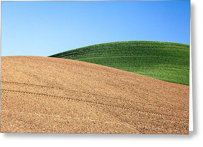 Overlapping Hills Greeting Card by Todd Klassy
