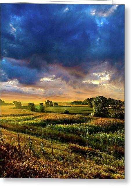 Twilight Greeting Cards - Overlooked Greeting Card by Phil Koch