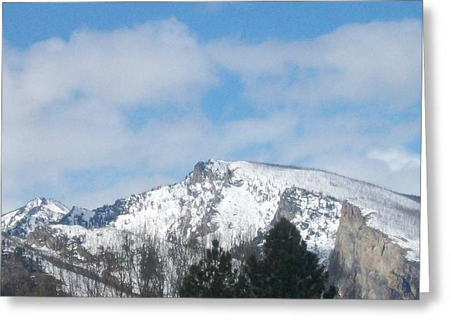 Greeting Card featuring the photograph Overlooking Blodgett by Jewel Hengen